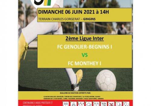 Affiche du match : GB - Monthey (2e inter)